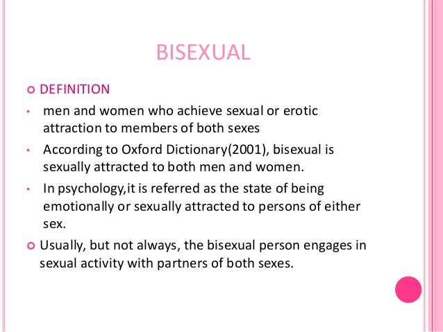 Bisexual definition oxford